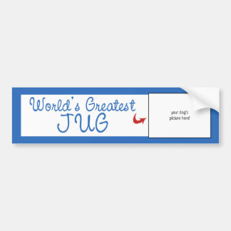 Custom Photo! Worlds Greatest Jug Car Bumper Sticker