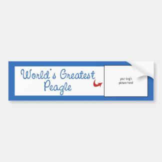 Custom Photo Worlds Greatest Peagle Bumper Sticker