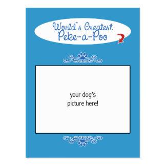 Custom Photo! Worlds Greatest Peke-a-Poo Postcard