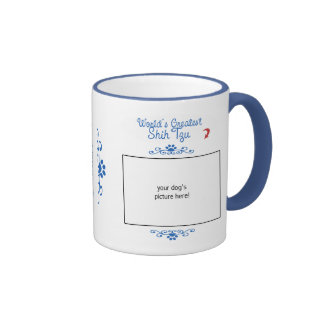 Custom Photo! Worlds Greatest Shih Tzu Ringer Mug