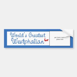 Custom Photo! Worlds Greatest Westphalian Bumper Sticker