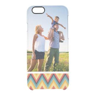 Custom Photo Zig Zag Striped Background 2 Clear iPhone 6/6S Case