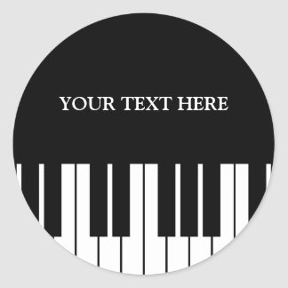 Custom piano keys round stickers for pianist