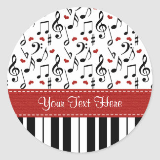 Custom Piano Music Notes Stickers