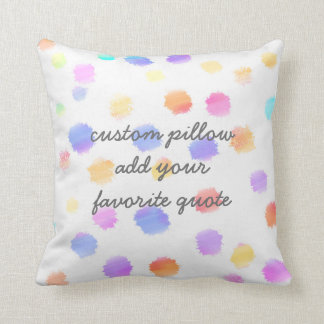 custom pillow add your quote painted polka dots