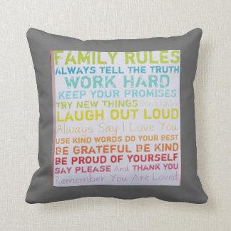 custom pillow-- ink spots  FAMILY RULES Cushion