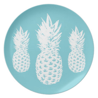 Custom pineapple fruit plate made from melamine