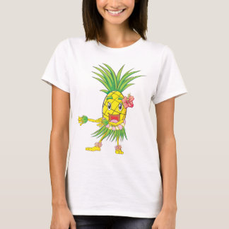 Custom Pineapple Hula Dancer Dancing T-Shirt