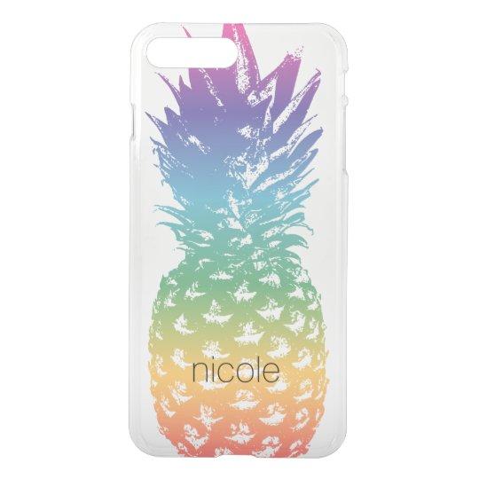 Custom pineapple transparent clear see through iPhone 7 plus case