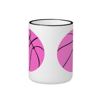 Custom Pink Basketball Coffee Mug