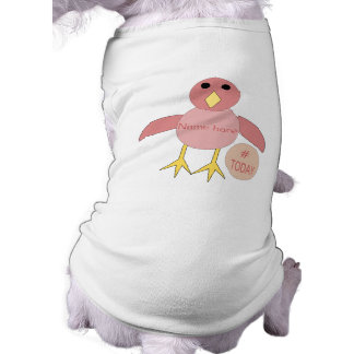 Custom Pink Birthday Girl Chick Dog T Shirt