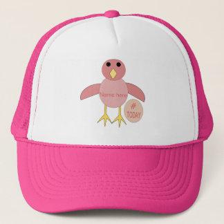 Custom Pink Birthday Girl Chick Hat