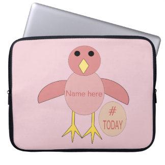 Custom Pink Birthday Girl Chick Laptop Bag Laptop Sleeves