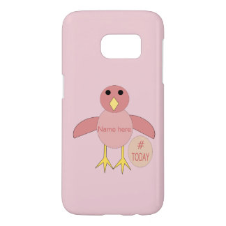 Custom Pink Birthday Girl Chick Samsung Case