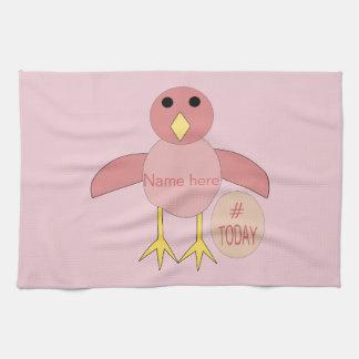 Custom Pink Birthday Girl Chick Towel