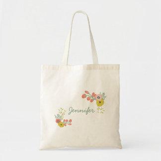 Custom Pink Botanical Floral Bags
