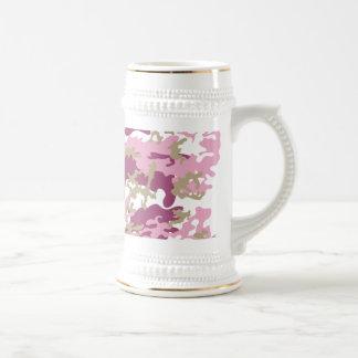 Custom Pink Camo Beer Stein Mugs