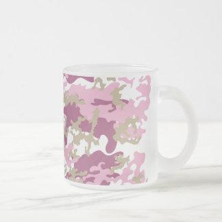 Custom Pink Camo Frosted Beer Mug