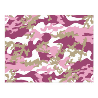 Custom Pink Camo Postcard