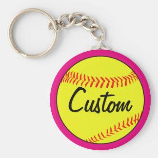Custom Pink Fastpitch Softball Team/Coach/Player Key Ring