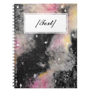 Custom Pink Galaxy Spiral Notebook