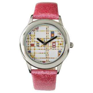 Custom Pink Glitter Watch