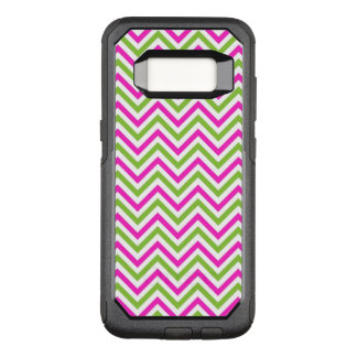 Custom Pink & Green Zigzag Chevron Pattern OtterBox Commuter Samsung Galaxy S8 Case