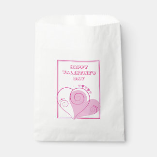 Custom Pink Hearts Favour Bags
