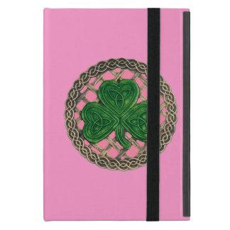 Custom Pink Shamrock On Celtic Knot iPad Mini Case
