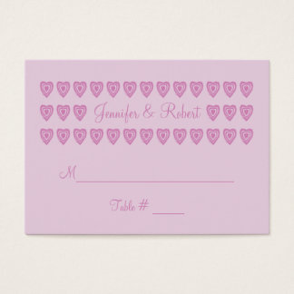 Custom PInk Wedding Place Cards