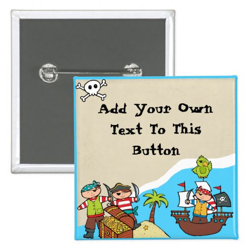 Custom Pirate Party Button
