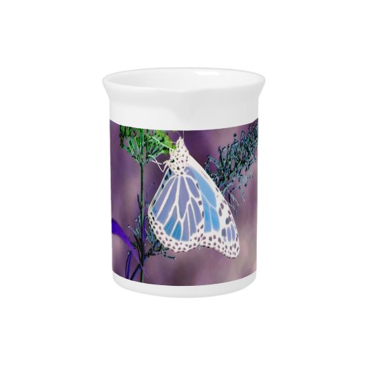 Custom Pitcher with Funky Butterfly