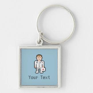 Custom Pixel Doctor Keychain