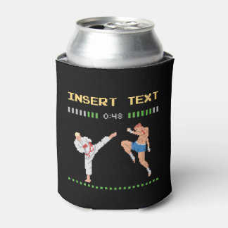 Custom Pixel Video Game Fight Can Cooler
