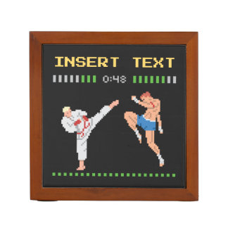 Custom Pixel Video Game Fight Desk Organiser