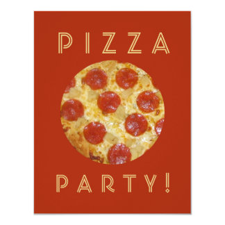 Custom PIZZA PARTY invitations