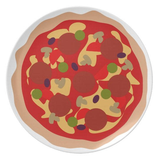 Custom pizza plate made from melamine