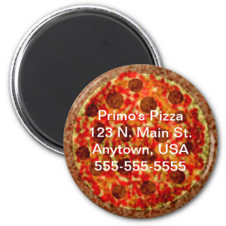 Custom Pizzeria Pizza Promotional Magnet
