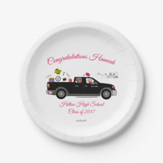Custom Plate for Hannah's Graduation philoSophie's