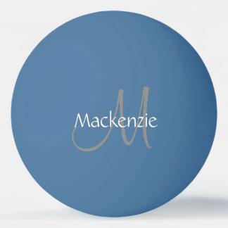 Custom Play | Monogram Name Script Chic Initial Ping Pong Ball