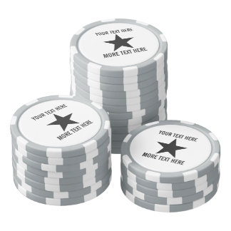 Custom poker chip golf ball markers with star logo