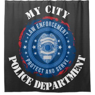 Custom Police Department Seal Shower Curtain