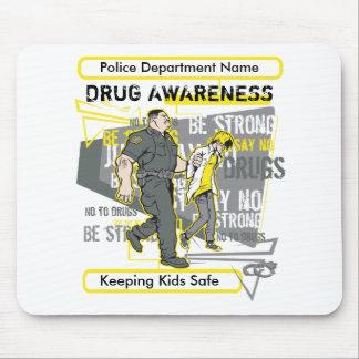 Custom Police Drug Awareness Mouse Pad