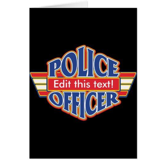 Custom Police Officer Card