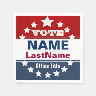 Custom Political Election Campaign Template Paper Napkin