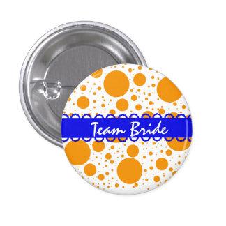 Custom Polka Dots Wedding Team Bride Buttons