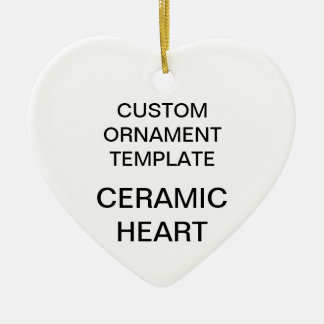 Custom Porcelain Heart Christmas Tree Ornament