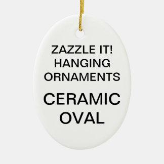 Custom Porcelain Oval Christmas Tree Ornament