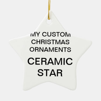 Custom Porcelain Star Christmas Tree Ornament