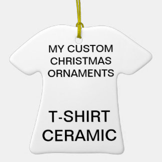 Custom Porcelain T-Shirt Christmas Tree Ornament